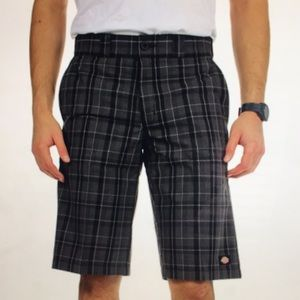 (2) pair DICKIES Regular Fit Grey Plaid Shorts